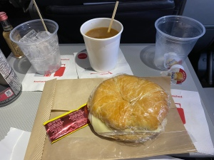 Turkey croissant on American Airlines.